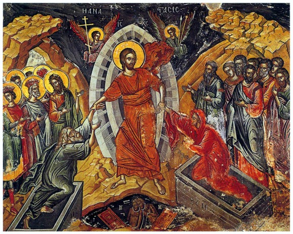 Icon of Jesus descending into-hell