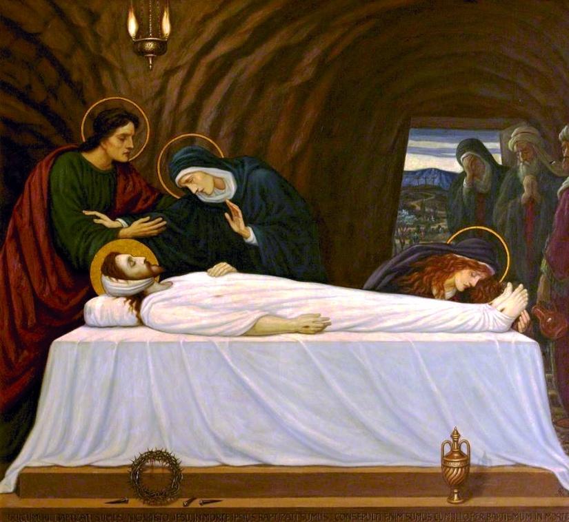 Jesus laid in the tomb